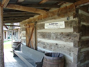 Magoffin County Pioneer Village and Museum - Image: The Henry Cabin, Magoffin County Pioneer Village and Museum