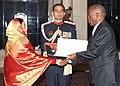 The High Commissioner of Kenya to India, Prof. Festus Kaberia presented his Credentials to the President, Smt. Pratibha Devisingh Patil, at Rashtrapati Bhavan in New Delhi on December 18, 2007.jpg