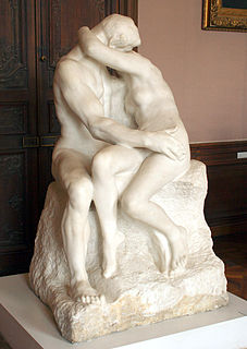 <i>The Kiss</i> (Rodin sculpture) marble sculpture by the French sculptor Auguste Rodin