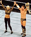 The Miz as Intercontinental champion along Maryse Raw April 2016.jpg