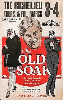 <i>The Old Soak</i> 1926 film by Edward Sloman