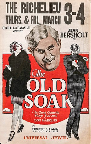 The Old Soak - Window poster
