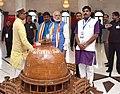 The Prime Minister, Shri Narendra Modi at the Bhim Birthplace Memorial (Bhim Janma Bhoomi), in Mhow, Madhya Pradesh on April 14, 2016. The Chief Minister of Madhya Pradesh, Shri Shivraj Singh Chouhan is also seen (1).jpg