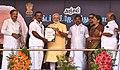 The Prime Minister, Shri Narendra Modi distributing the Sanction Letters to beneficiaries of Long Liner Trawlers under 'Blue Revolution Scheme', at Rameswaram, Tamil Nadu (1).jpg