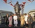 "The Prime Minister, Shri Narendra Modi with the Chief Minister of Gujarat, Smt. Anandiben Patel at ""Vibrant Gujarat"" Global Trade Show, Exhibition Venue, in Gandhinagar, Gujarat on January 08, 2015 (1).jpg"
