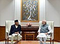 The Prime Minister of Nepal, Mr. K.P. Sharma Oli calls on the Prime Minister, Shri Narendra Modi, in New Delhi on April 06, 2018 (1).jpg