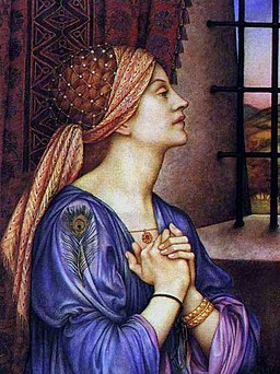 Evelyn De Morgan, The Prisoner, 1907-1908, Wikimedia Commons