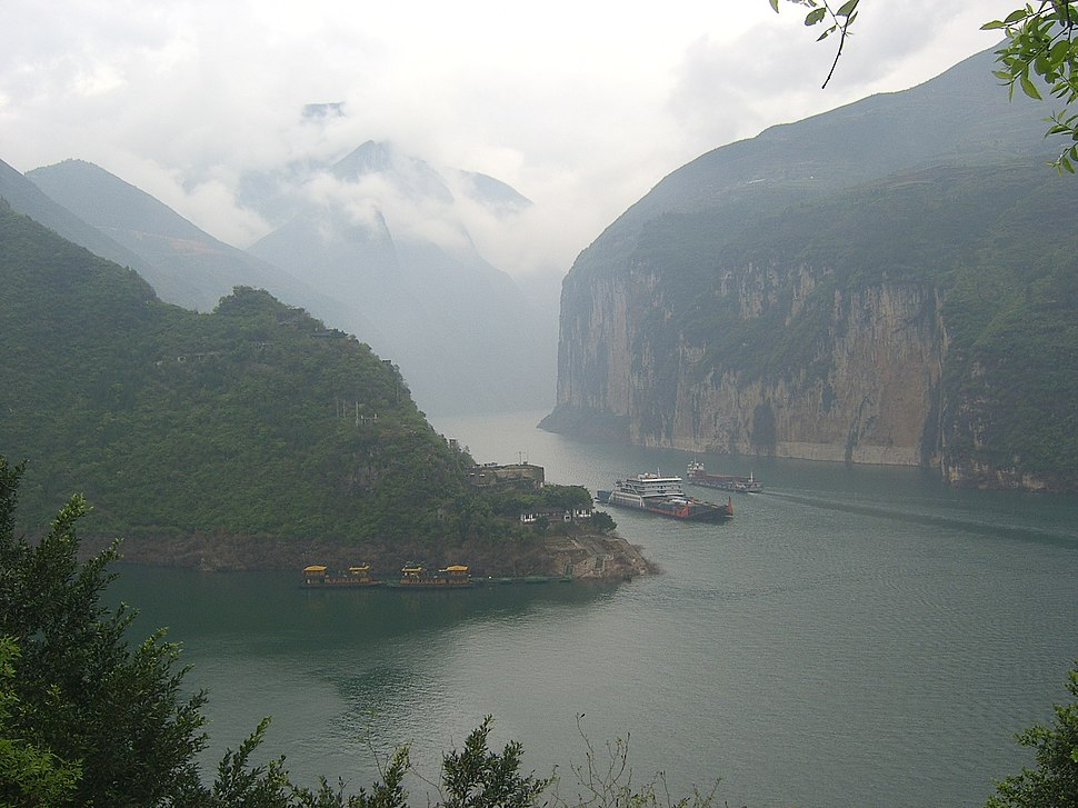 The Qutang Gorge along the Yangtze river