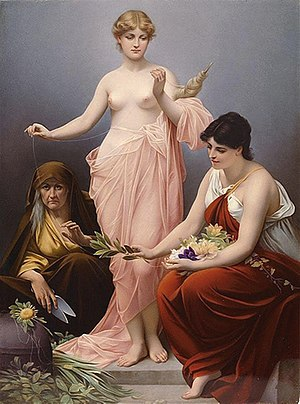 Moirai - The Three Fates by Paul Thumann (nineteenth century)