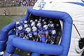 The U.S. Air Force Academy football team prepares to take the field prior to the start of their opening football game against the Idaho State Bengals at Falcon Stadium in Colorado Springs, Colo., Sept 120901-F-ZJ145-505.jpg