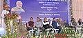 The Union Minister for Railways, Shri Suresh Prabhakar Prabhu addressing the gathering at the foundation stone laying ceremony of Sairang Station building of Bairabi-Sairang New line Project, at Sairang, in Aizawl, Mizoram.jpg