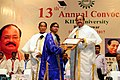 The Vice President, Shri M. Venkaiah Naidu giving away degrees to the Students, at the 13th Annual Convocation of Kalinga Institute of Industrial Technology University, in Bhubaneswar.jpg