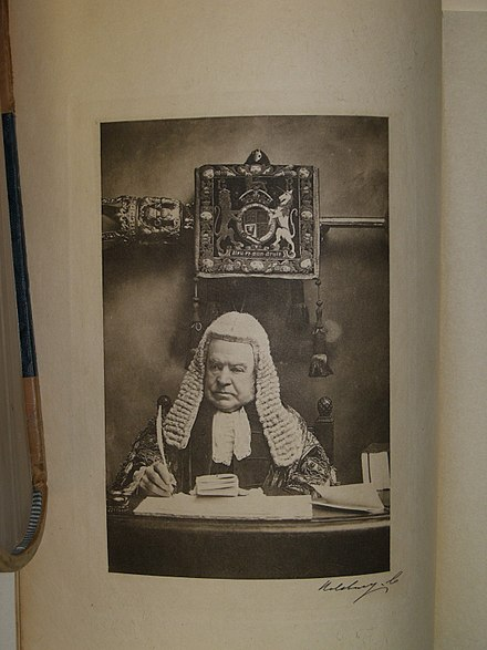 Image of Hardinge Giffard, 1st Earl of Halsbury from Halsbury's Laws of England, 1st ed, Vol 1.