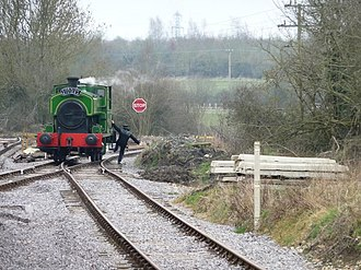 Swindon and Cricklade Railway - Image: The end of the line, for now (geograph 3387665)