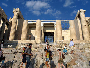Propylaea - Stairs leading up to the Propylaea