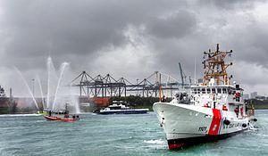 The first Fast Response Cutter, Bernard C. Webber, arrives in her homeport, Miami Florida -a.jpg