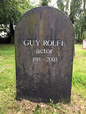 Guy Rolfe - The grave of Guy Rolfe in the churchyard St Mary's, Benhall