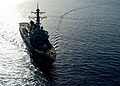 The guided missile destroyer USS Ramage (DDG 61) steams through the Mediterranean Sea April 9, 2014, in support of Noble Dina 2014 140409-N-CH661-379.jpg