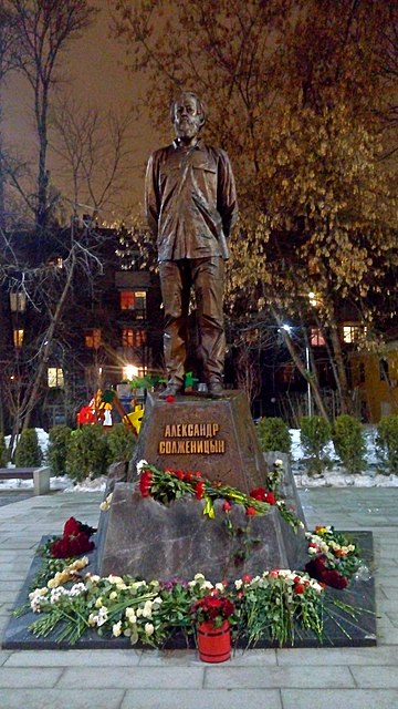 Monument to Alexander Solzhenitsyn in Moscow, December 2018 The monument to Solzhenitsyn in Moscow 2.jpg