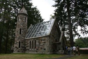 "Manhattanville College - The restored nineteenth-century ""Lady Chapel"" in Ohnell Environmental Park"