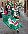 "The procession of the Noble Contrada ""Oca (Goose)"". Siena, Italy.jpg"