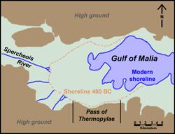 Thermopylae map 480bc