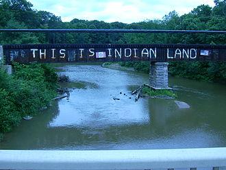 Garden River First Nation - Rail bridge over the Garden River.