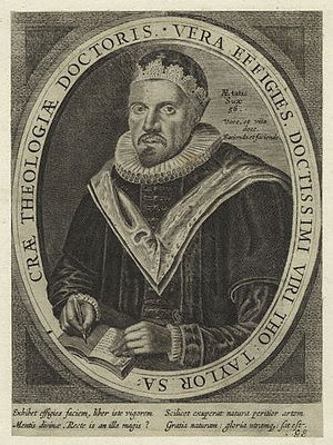 Thomas Taylor (priest, 1576–1632) - Thomas Taylor, engraving after William Marshall, some time after 1633.