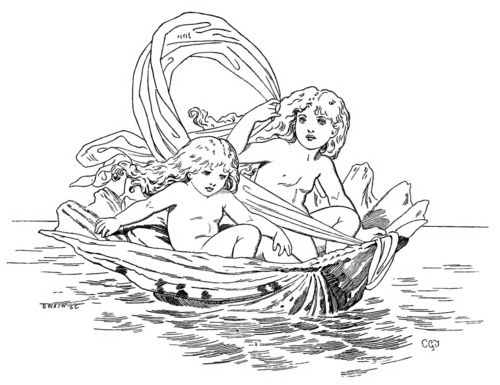 FAIRIES IN BOAT