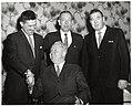 Three unidentified men and Mayor John F. Collins in Holyoke (10949782555).jpg