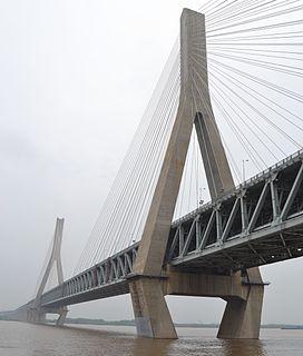 Tianxingzhou Yangtze River Bridge bridge in Peoples Republic of China