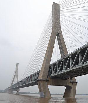 Tianxingzhou Yangtze River Bridge - Image: Tianxingzhou Yangtze River Bridge