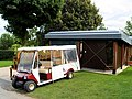 Ticket booth and buggy at Brodsworth Hall. - geograph.org.uk - 507873.jpg