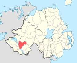 Location of Tirkennedy, County Fermanagh, Northern Ireland.