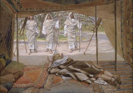 Tissot Abraham and the Three Angels