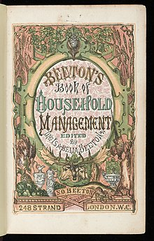 Image scannée de la couverture de Mrs Beeton's Book of Household Management.