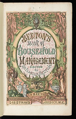 Title page of 'Household Management' Wellcome L0042710.jpg