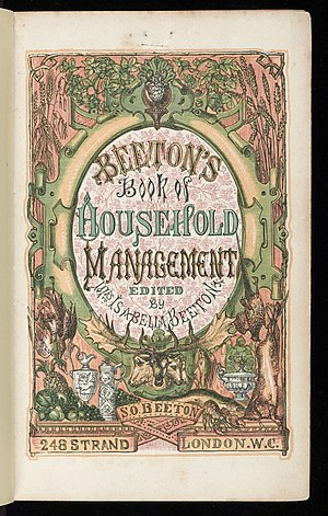 Mrs Beeton's Book of Household Management - Title page