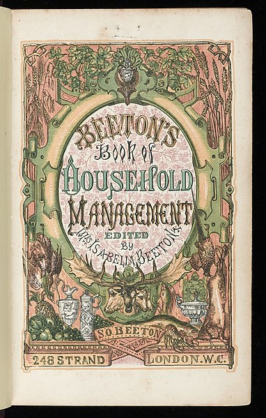 File:Title page of 'Household Management' Wellcome L0042710.jpg