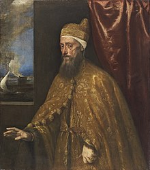 Tiziano, Portrait of Doge Francesco Venier Oil on canvas, Thyssen-Bornemisza Collection.jpg