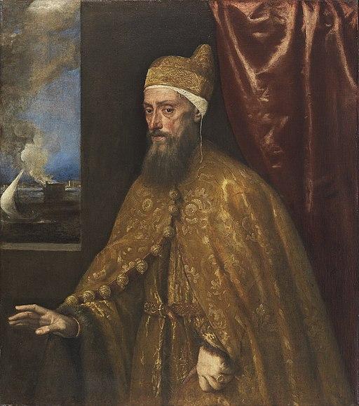 Tiziano, Portrait of Doge Francesco Venier Oil on canvas, Thyssen-Bornemisza Collection