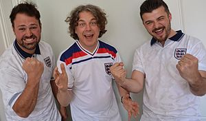 Alan Davies - The Bantams Banter presenters with Alan Davies for ITV's Brazilian Banter
