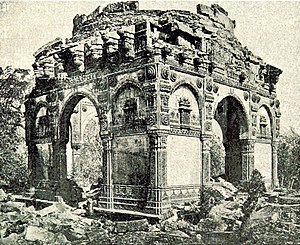Champaner-Pavagadh Archaeological Park - Ruined tomb at Champaner, 1893