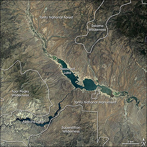 Tonto Basin - Satellite image.