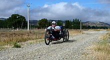 Tony Christiansen riding the Otago Central Rail Trail.