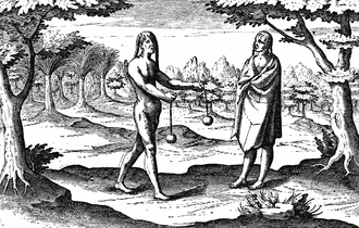 History of Uruguay - Uruguayan Indians Drawing from Hendrick Ottsen journal, 1603