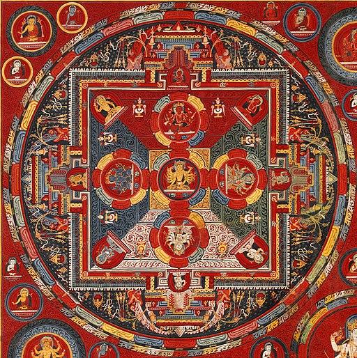 Top right mandala, Tibetan, Central Tibet, Tsang, Ngor Monastery, Sakya, Four Mandalas of the Vajravali Series (cropped)