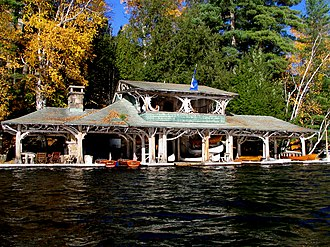 Marjorie Merriweather Post - Boathouse at Camp Topridge