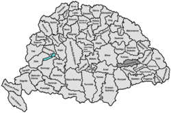 Location of Torda-Aranyos