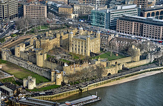 A historic castle on the north bank of the River Thames in central London